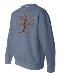 Tree of Life Blue Jean Sweatshirt