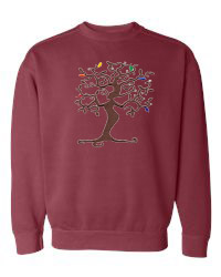 Tree of Life Crimson Sweatshirt